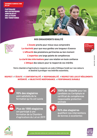 Nos engagements qualité
