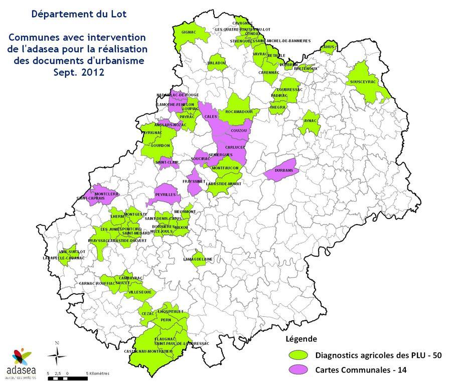 L' ADASEA a déjà réalisé ce type d'intervention sur plus de 64 communes* (dont une hors département).