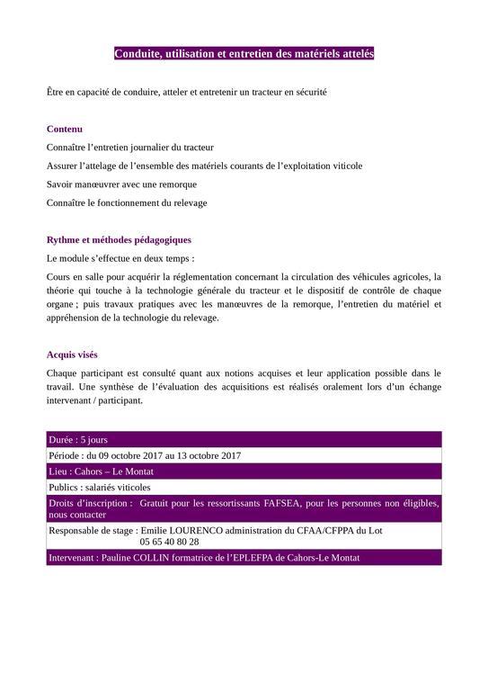 Formation chambre d 39 agriculture du lot - Formation chambre d agriculture ...